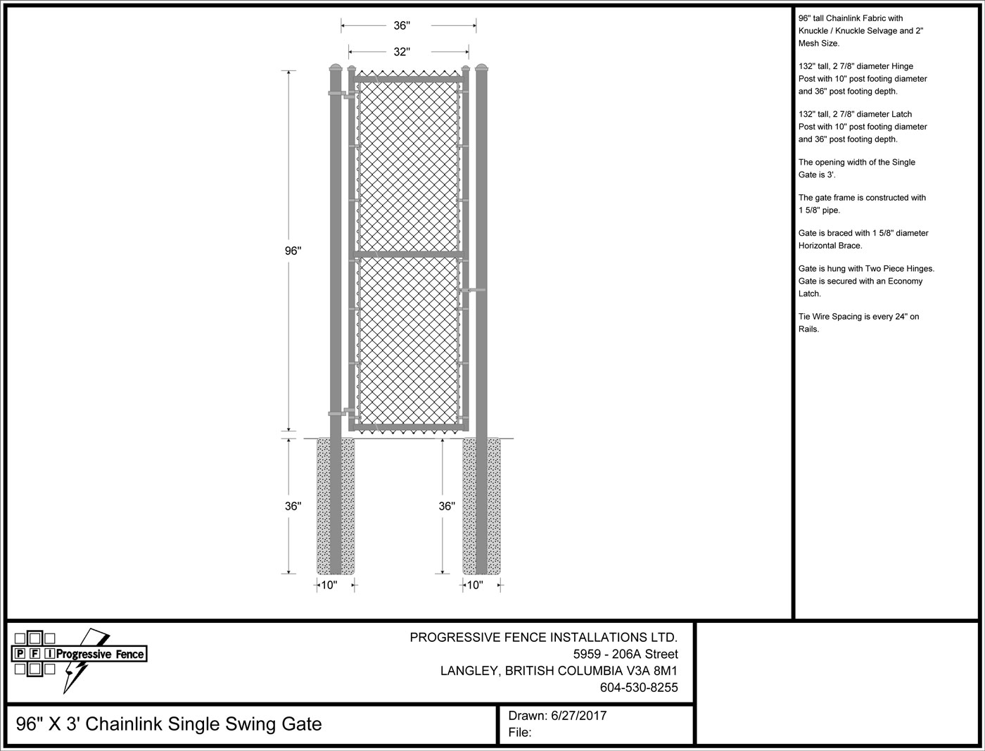 Shop Drawings Progressive Fence