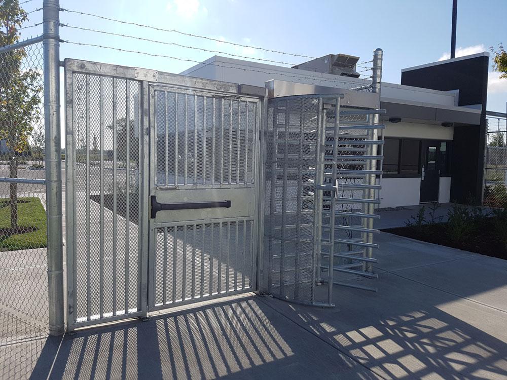 High security gates metal progressive fence