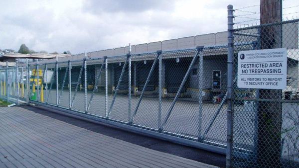 Automatic Security Gate-Chain Link Fence